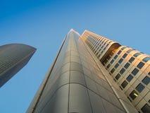 Edificios del negocio en el distrito financiero del franco Imagen de archivo