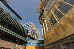 Edificios del negocio en Stratford Imagen de archivo libre de regalías
