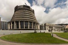 Edificios del parlamento de Nueva Zelanda Fotos de archivo