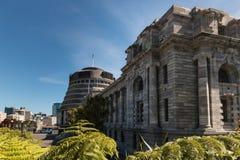 Edificios del parlamento en Wellington Fotografía de archivo libre de regalías