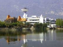 Edificios del pie de las colinas occidentales Foto de archivo