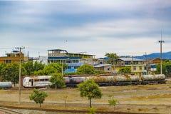 Edificios descuidados, ciudad de Daule, Ecuador Foto de archivo