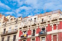 Edificios en Barcelona Fotografía de archivo libre de regalías