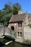 Edificios en Brujas, Bélgica Imagenes de archivo