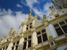 Edificios en Brujas, Bélgica Imagen de archivo libre de regalías