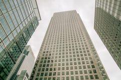 Edificios en Canary Wharf - Londres Imagenes de archivo