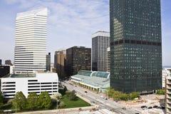 Edificios en Cleveland céntrica Imagen de archivo