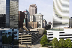 Edificios en Cleveland céntrica Fotos de archivo
