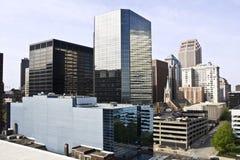 Edificios en Cleveland céntrica imagen de archivo libre de regalías