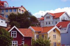 Edificios en el archipiélago en Suecia Foto de archivo libre de regalías