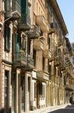 Edificios en el centro de ciudad, Alejandría, Italia Fotos de archivo