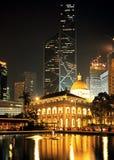 Edificios en el cuadrado de la estatua, Hong Kong Island. Foto de archivo libre de regalías