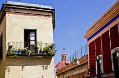 Edificios en Guanajuato Foto de archivo libre de regalías
