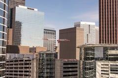 Edificios en Houston céntrica, Tejas Imagenes de archivo
