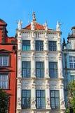Edificios en la calle de mercado larga en Gdansk Foto de archivo libre de regalías