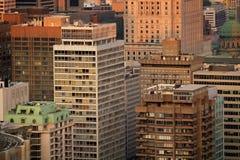 Edificios en la ciudad de Montreal foto de archivo libre de regalías