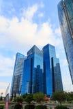 Edificios en la ciudad de Singapur, Singapur - 13 de septiembre de 2014 Fotos de archivo