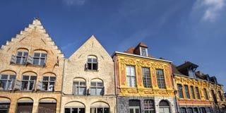 Edificios en la ciudad vieja de Lille, Francia fotografía de archivo