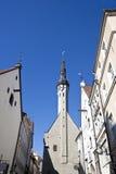 Edificios en la ciudad vieja en Tallinn, Estonia Imagen de archivo