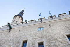 Edificios en la ciudad vieja en Tallinn, Estonia Imágenes de archivo libres de regalías