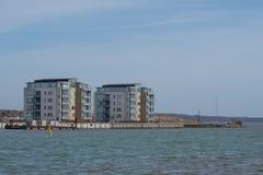 Edificios en la costa Fotografía de archivo libre de regalías
