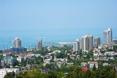 Edificios en la costa de Sochi Fotos de archivo libres de regalías