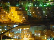 Edificios en la noche Foto de archivo libre de regalías