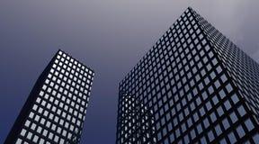 Edificios en la oscuridad stock de ilustración
