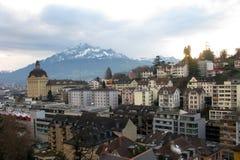 Edificios en Lucerna Imagen de archivo