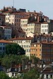 Edificios en Lyon Foto de archivo libre de regalías
