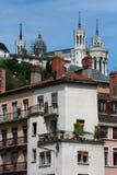 Edificios en Lyon Imagenes de archivo