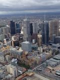Edificios en Melbourne Foto de archivo libre de regalías