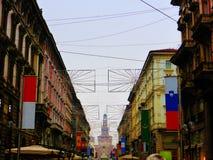 Edificios en Milano Imagenes de archivo