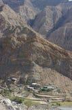 Edificios en montañas Fotos de archivo