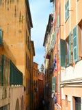 Edificios en Niza, Francia Foto de archivo libre de regalías