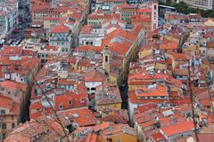 Edificios en Niza, Francia imagen de archivo libre de regalías