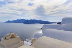 Edificios en Oia en Santorini Fotografía de archivo libre de regalías