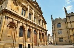 Edificios en Oxford, Inglaterra Imagen de archivo libre de regalías