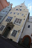 Edificios en Riga Foto de archivo libre de regalías
