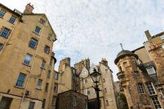 Edificios en señora Stairs Close en Edimburgo Foto de archivo libre de regalías