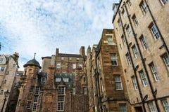 Edificios en señora Stairs Close en Edimburgo Imagen de archivo libre de regalías