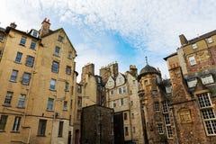 Edificios en señora Stairs Close en Edimburgo Fotografía de archivo