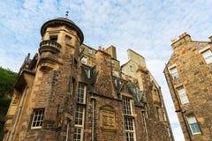 Edificios en señora Stairs Close en Edimburgo Imagen de archivo