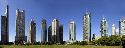 Edificios en Shangai Fotografía de archivo libre de regalías