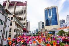 Edificios en Singapur Foto de archivo libre de regalías