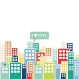 Edificios en una ciudad grande Imagen de archivo