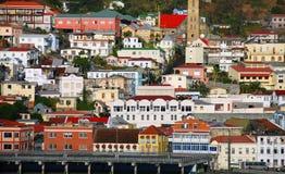 Edificios en una colina fotografía de archivo libre de regalías