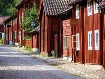 Edificios escandinavos viejos fotografía de archivo