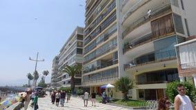 Edificios exteriores y manera peatonal en Ancon Imagen de archivo libre de regalías