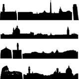 Edificios famosos de Italia. stock de ilustración